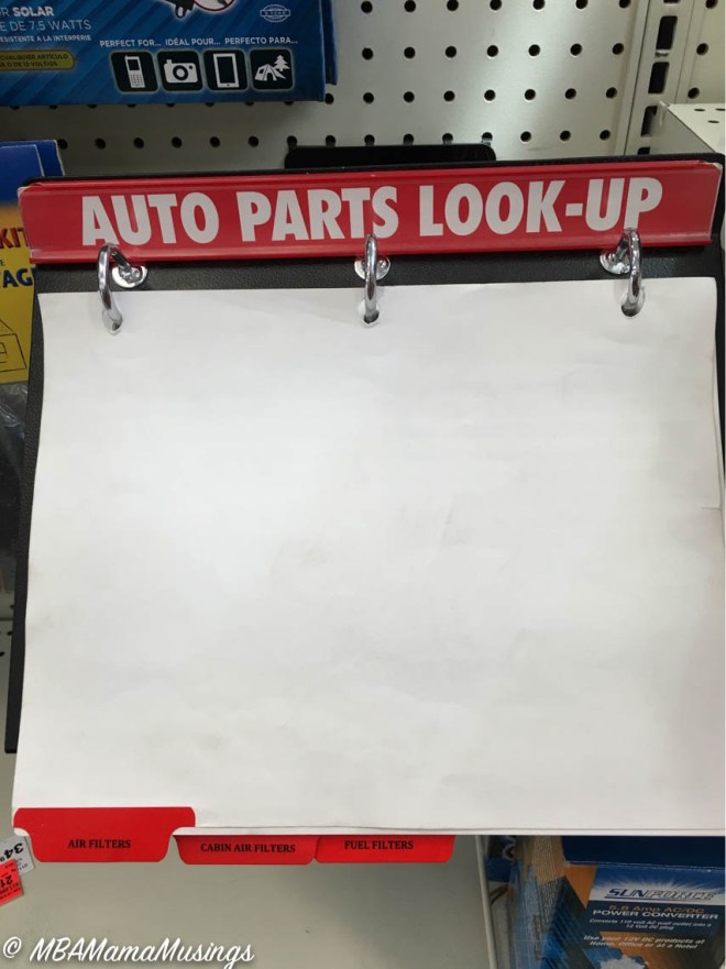 Canadian Tire Auto Parts Look-Up Catalogue