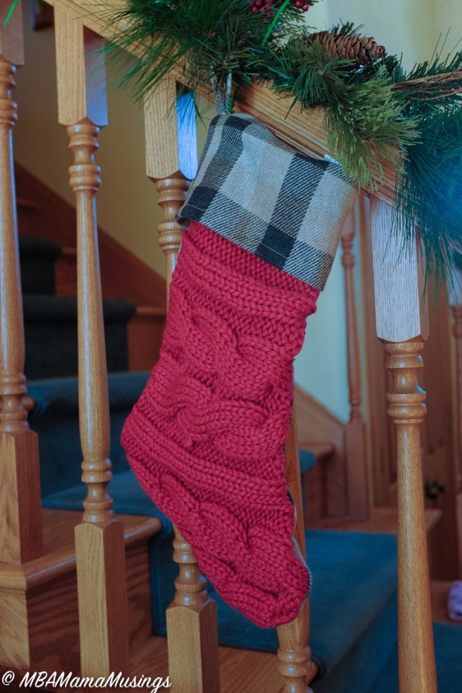 #LoveHallmarkCA Red Cable Knit Christmas Stocking