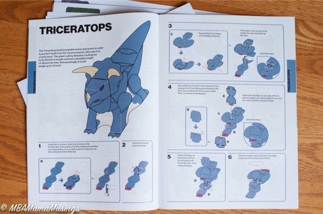 Paper Dinosaur Punch Out Instructions