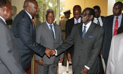 Saviour Kasukuwere and Robert Mugabe