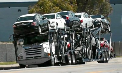 Truck with cars