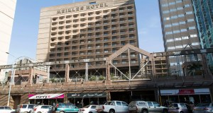 Facade of the Meikles Hotel in Harare, Zimbabwe. The luxury hotel opened for business in 1915.