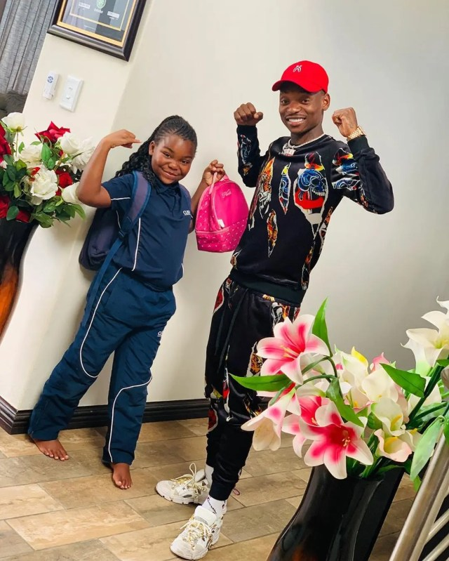 Khama Billiat and daughter
