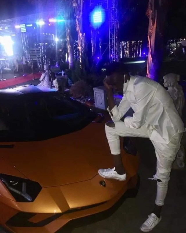 All-white party Lamborghini