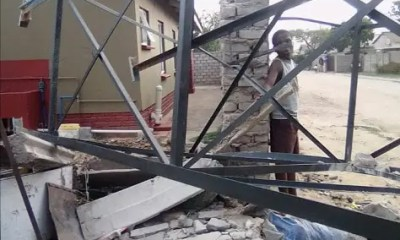 Water tank collapses