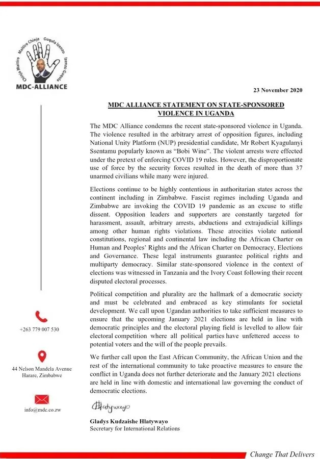 MDC A Letter