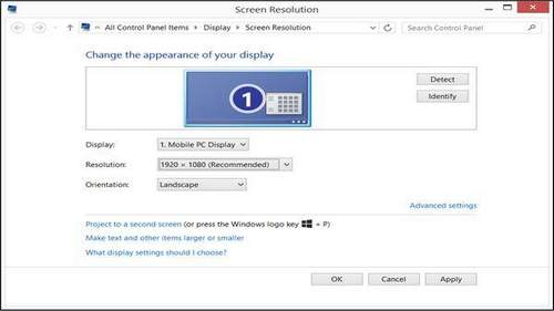 How to Configure Windows 8 Screen Resolution