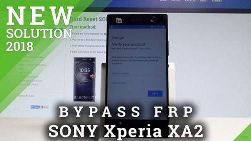 How to Unlock Sony Xperia Xa2 Screen
