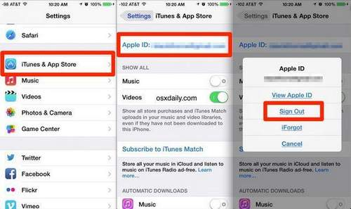 Where is Apple Id stored