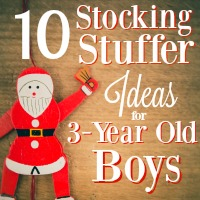 10 Stocking Stuffer Ideas for 3-Year Old Boys
