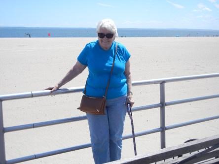 Mom at Coney Island, 2017