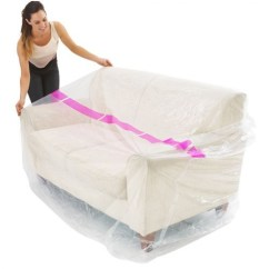 Sofa Cover Storage Bag High Back Rattan Corner Plastic For 3 Seaters Moving And