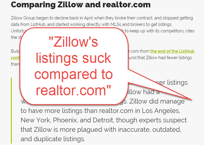 Comparing Zillow and Realtor.com from therealdaily.com_Zillows listings suck