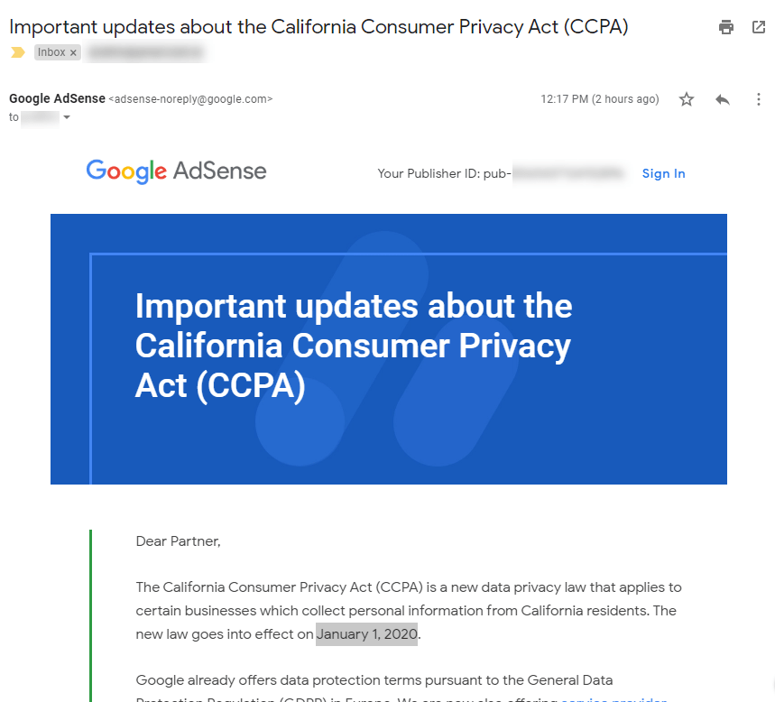California Consumer Privacy Act (CCPA) Are you doing what is required