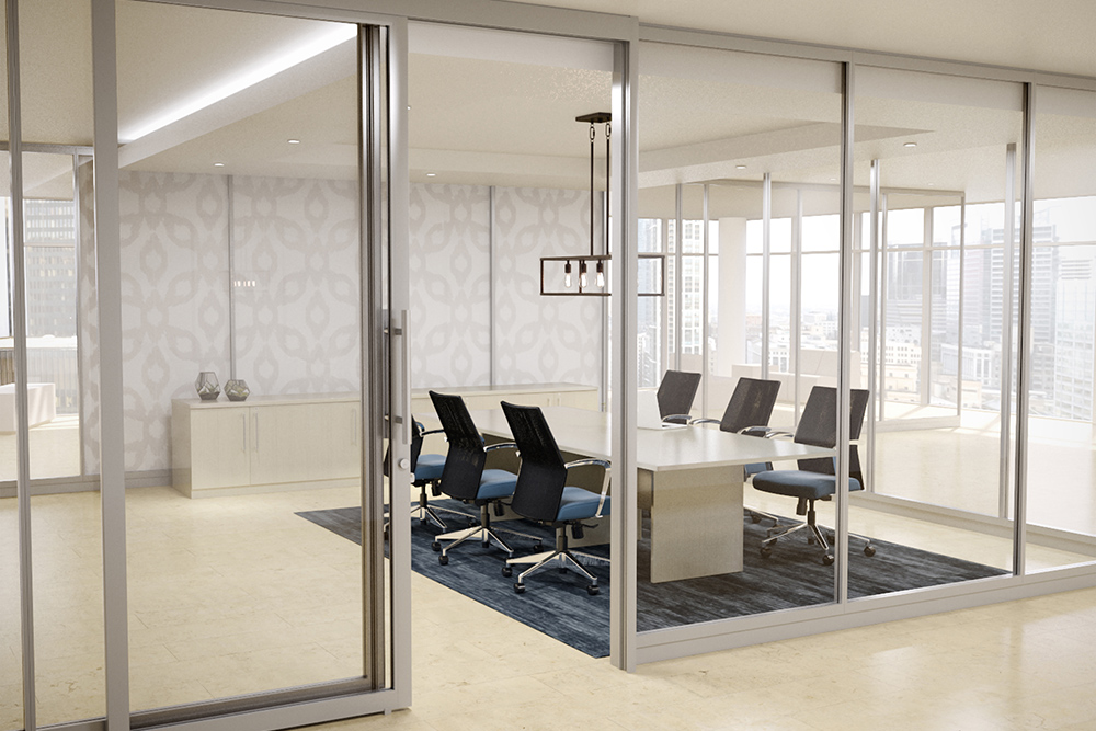 See through conference room