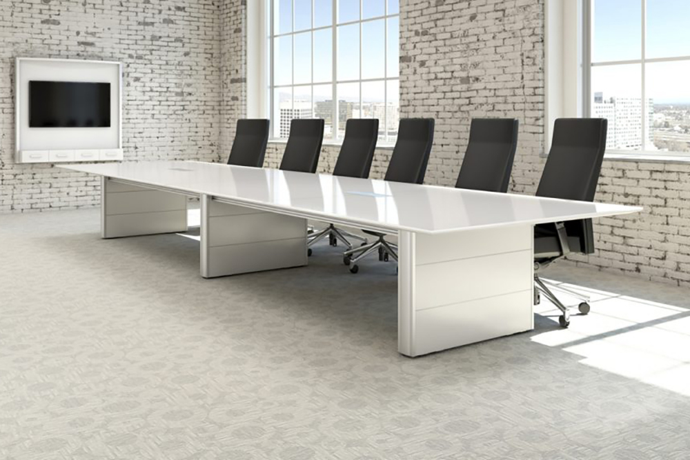 White table for a board room