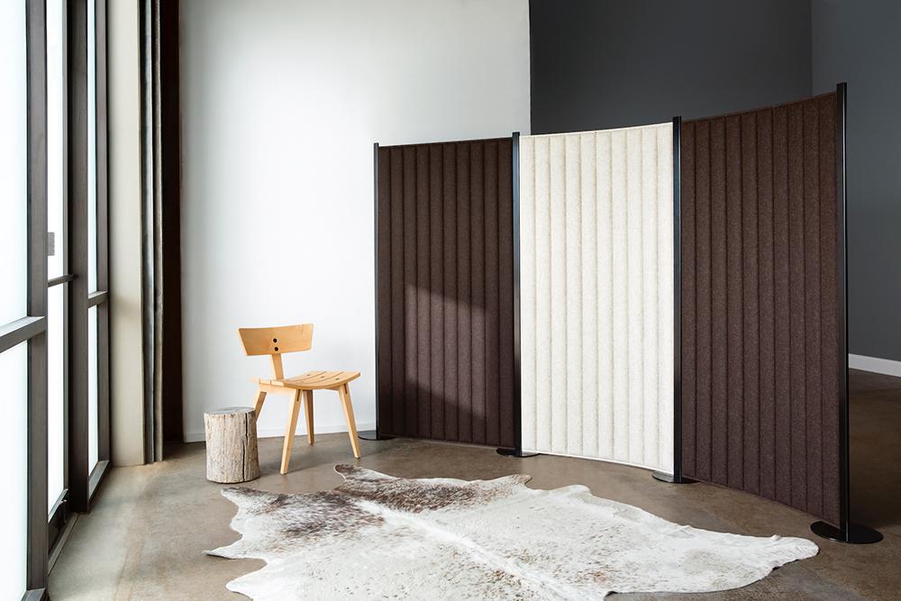 Brown freestanding room divider