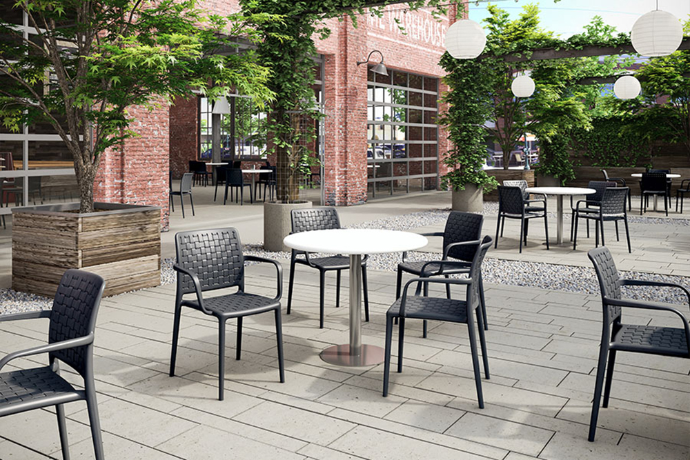 Sturdy outdoor cafe chairs