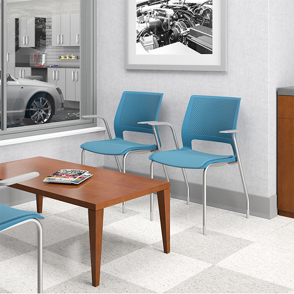 Plastic patient room chairs