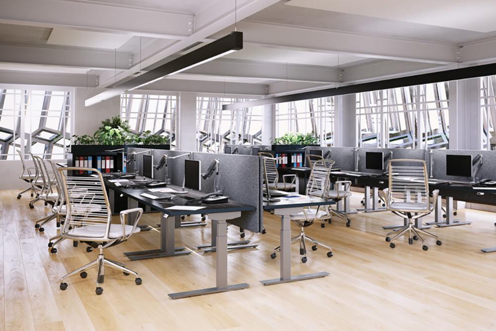 Quiet height adjustable desk