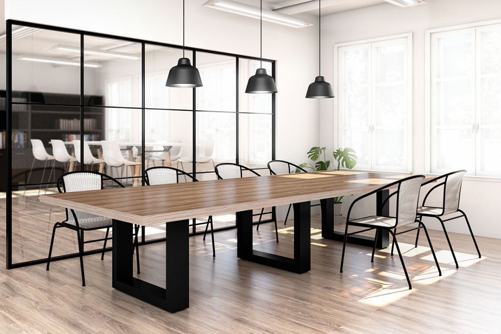 Large conference room with black base