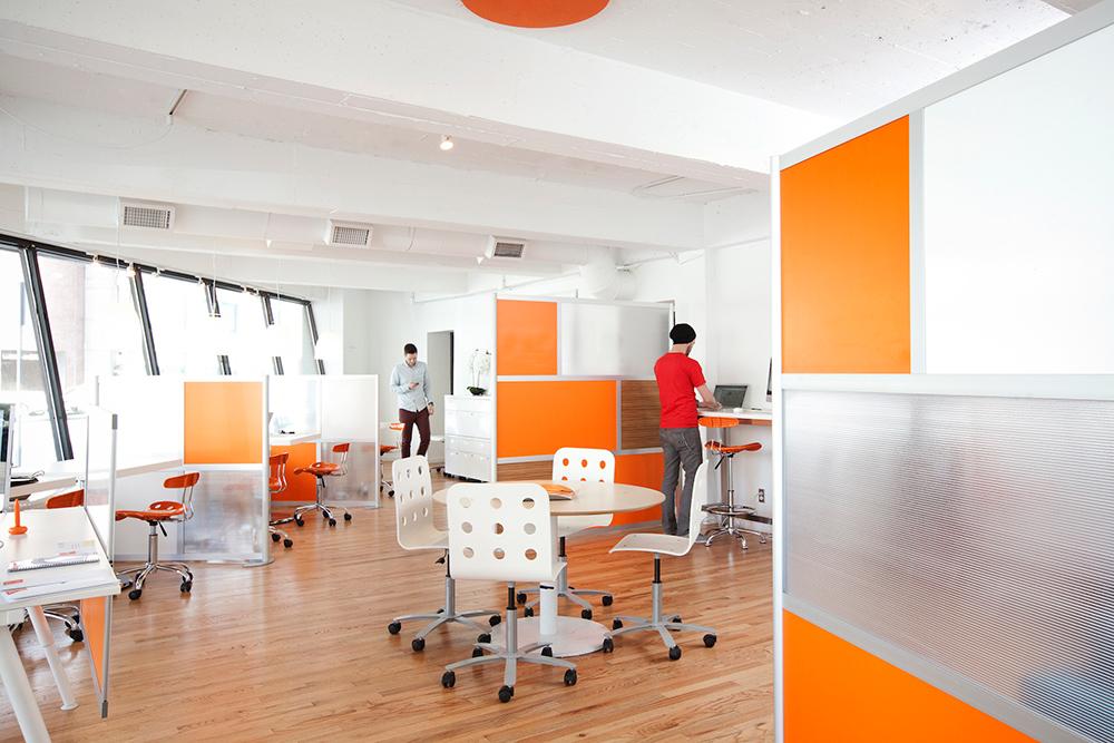 Orange room divider