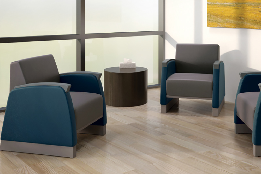Behavioral sturdy chairs in blue