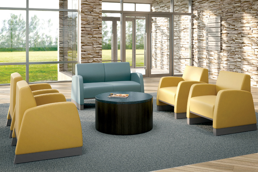 Yellow and blue behavioral chairs
