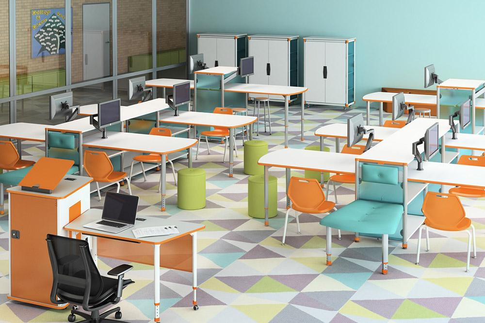 Cheerful school furniture