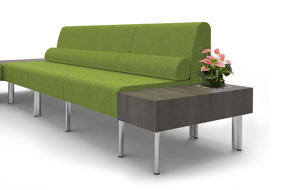 green lounge sofa