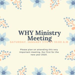 WHY Ministry Meeting