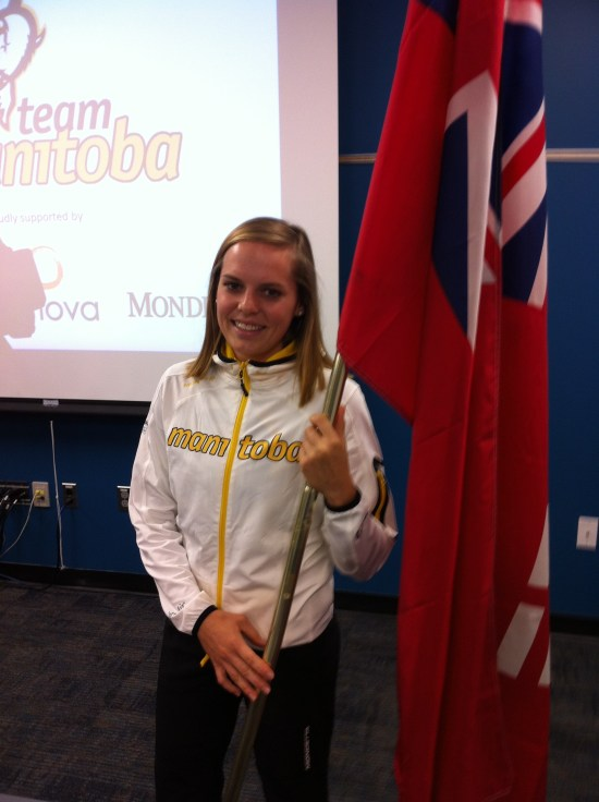Karlee Gendron Canada Summer Games Flag Bearer