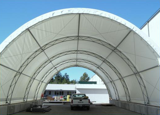 Mbd Provides Fabric Covered Buildings As Add On Steel Storage