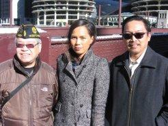 Dir. Brotonel, Philippine Consuls Alena Grace S. Borra and Ricarte B. Abejuela III (L to R).