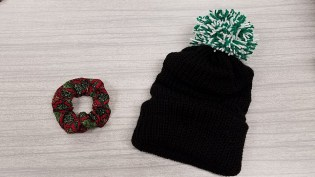 Entrepreneurship prototypes - scrunchie and winter hat