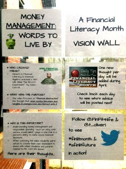 Financial Literacy Month Vision Wall