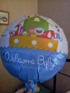 Welcome ballon from Nana & Papa