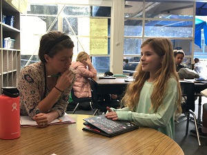 Bringing teachers to observe reading workshop in Christine Jewett's classroom at Robinson