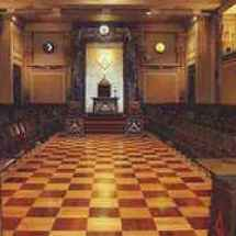 Masonic conference in a temple