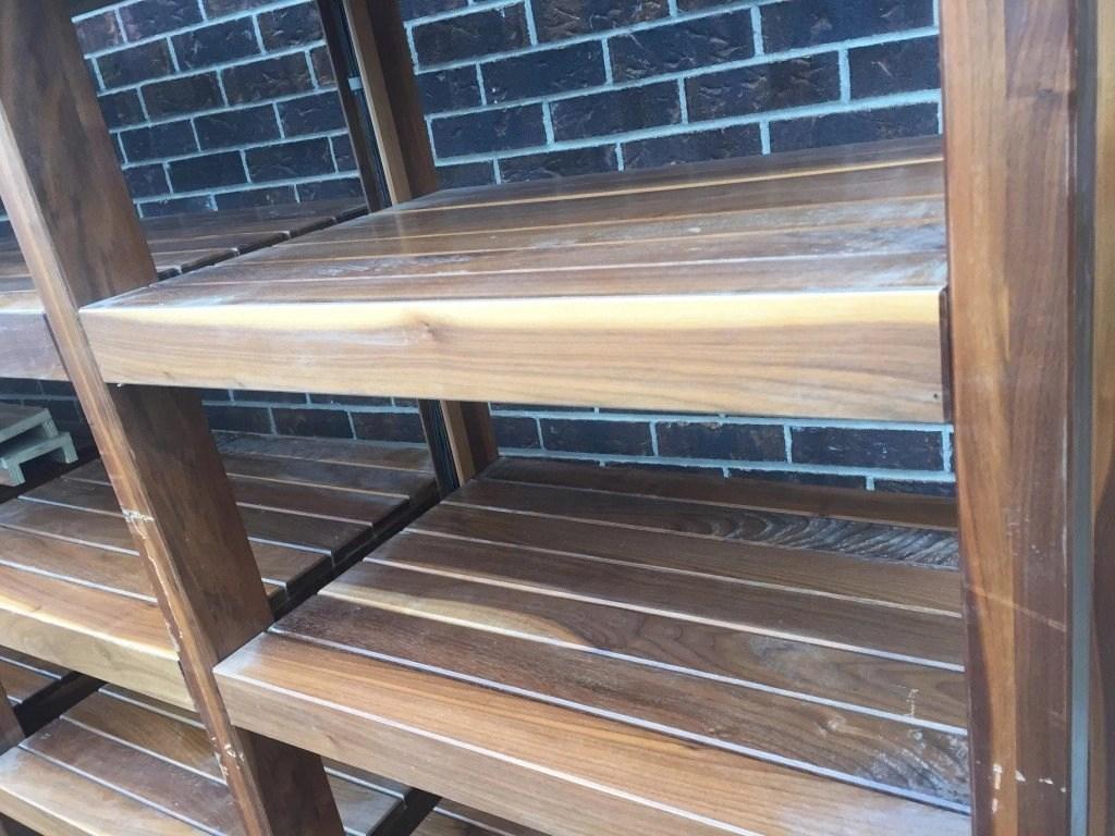 Commercial Wooden Retail Store Shelving Led Light Mb