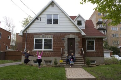 The Living Room congregation is praying for the Jones' family's purchase of this Montreal house.