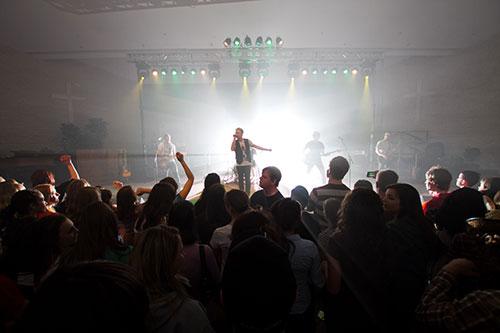 Jordan Janzen and The Color perform at MBCI. Photo: Peter Kisil