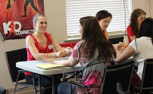 Volunteers provided full spa treatment on Super Single Parents' Day. Photos: courtesy North Langley Community Church