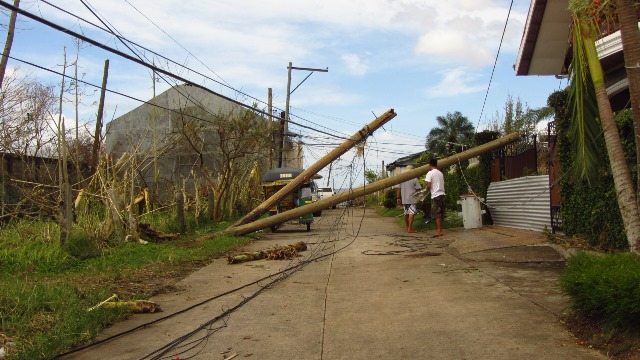 Power facilities in Ormoc City, Leyte province are expected to be down for months after Super Typhoon Haiyan struck the Philippines, Nov. 8, 2013. PHOTO: ACT Alliance/Christian Aid