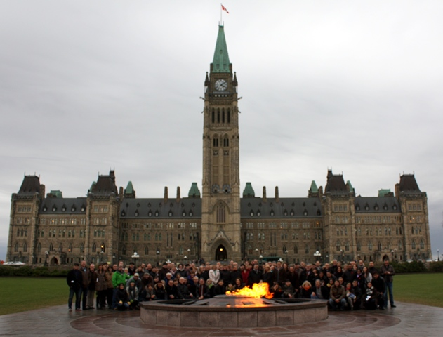More than 200 church planters and spouses gathered on Parliament Hill in front of the Centennial Flame to pray for Canada.