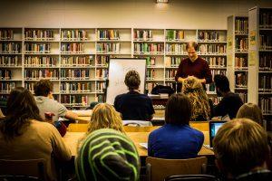Hepburn MB pastor Rod Schellenberg presents a workshop on the practice of testimony. PHOTO: Pei Chu