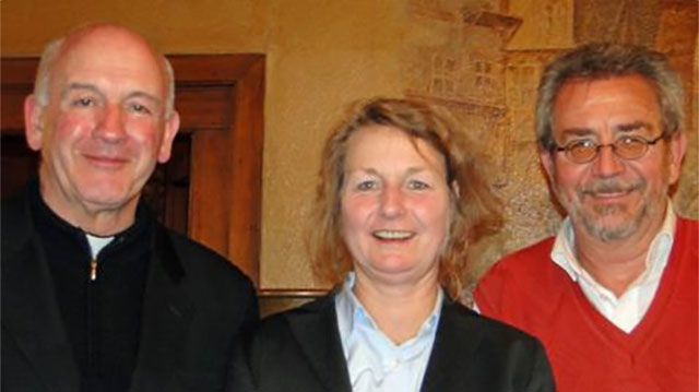 Co-chairs of the commission (from left): Luis Augusto Castro Quiroga, Friederike Nüssel, Alfred Neufeld. Photo by Eleanor Miller