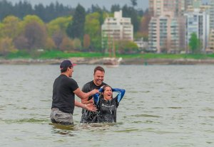 Vancouver MB church plants baptized new members on Easter Sunday
