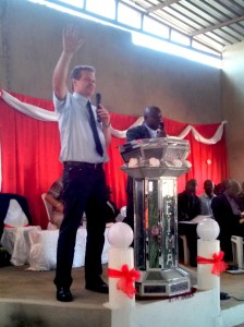 MB Mission general director Randy Friesen spoke at the Sunday celebration service. PHOTO: David Wiebe