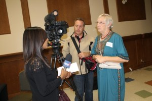 Donna Entz is interviewed by Global News. To see the video clip, go to  http://globalnews.ca/video/1562237/creating-an-interfaith-dialogue